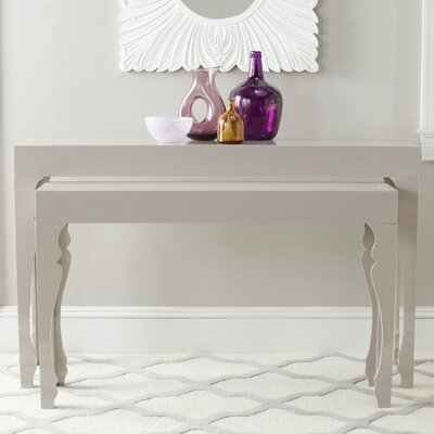 Beth 2 Piece Console Table Set Color: Taupe
