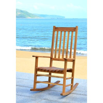 Kandace Rocking Chair Frame Color: Teak Look