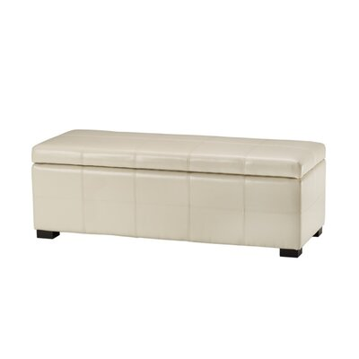 Madison Leather Storage Bench Color: Cream