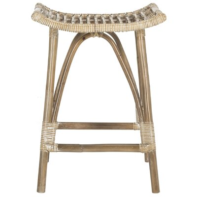 "Alexzander 25.2"" Bar Stool Color: Gray White Wash"