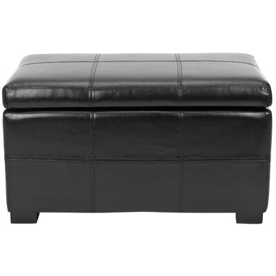 Lucas Leather Storage Bench Color: Black