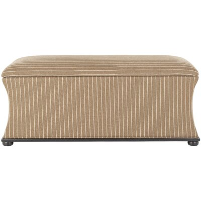 Kate Upholstered Storage Bench Upholstery: Brown/Cream