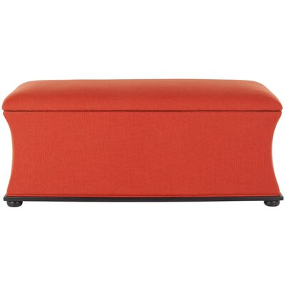 Kate Upholstered Storage Bench Upholstery: Orange