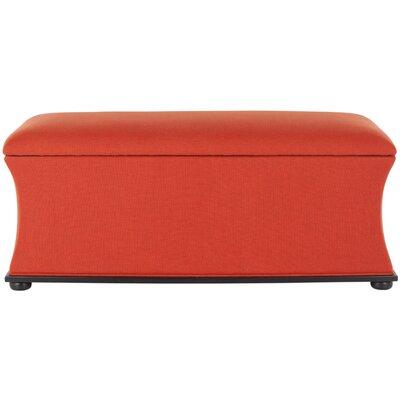 Kate Upholstered Storage Bench Upholstery: Orange