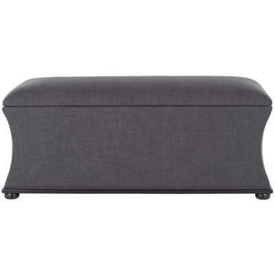 Kate Upholstered Storage Bench Upholstery: Gray