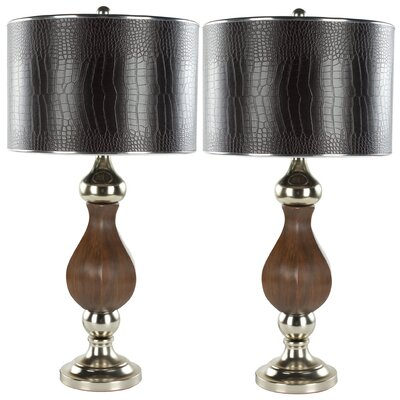 "Safavieh Joan 30"" H Table Lamp with Drum Shade"