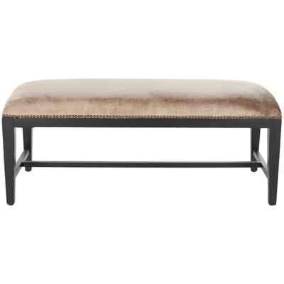 Kaylie Two Seat Bench Color: Dark Champagne