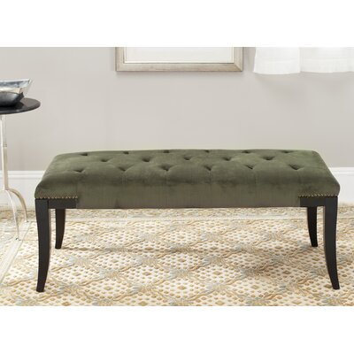 Adele Tufted Two Seat Bench Upholstery: Cotton Graphite