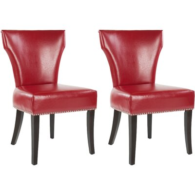 Maria Upholstered Dining Chair Color: Red