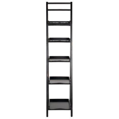 Asher Ladder Bookcase Color: Black