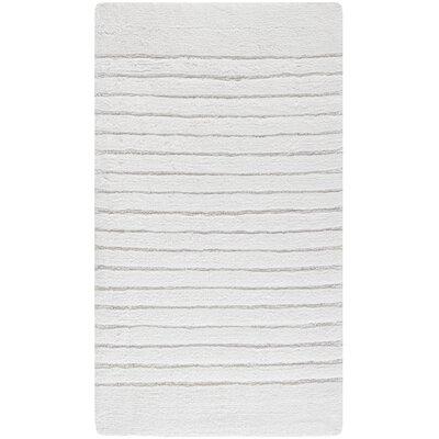 "Christie Bath Rug Size: 21"" W x 34"" L, Color: White"