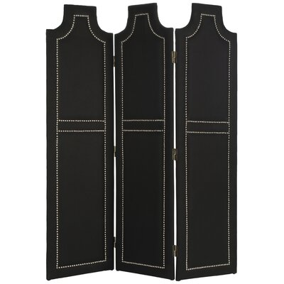Darcy 3 Panel Room Divider Color: Black