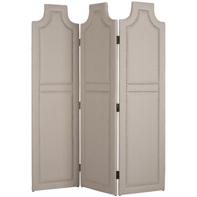 Darcy 3 Panel Room Divider Color: Taupe