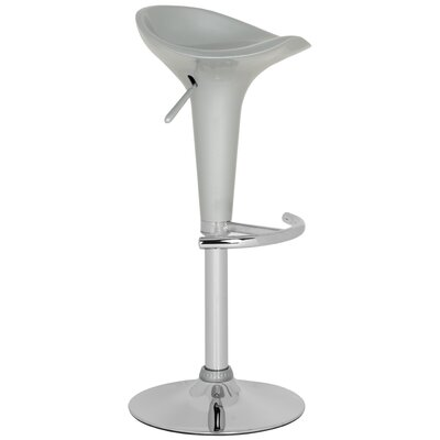 Jataya Adjustable Height Swivel Bar Stool Color: Silver