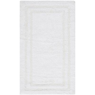 Plush Master Bath Rug V Color: True White