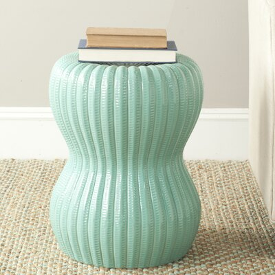 Hour Glass Garden Stool Color: Light Aqua