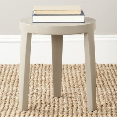 Wilma Accent Stool Color: Pearl Taupe