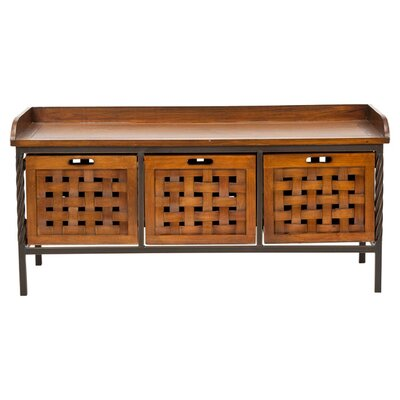 Isaac Wooden Storage Bench Color: Filbert Brown