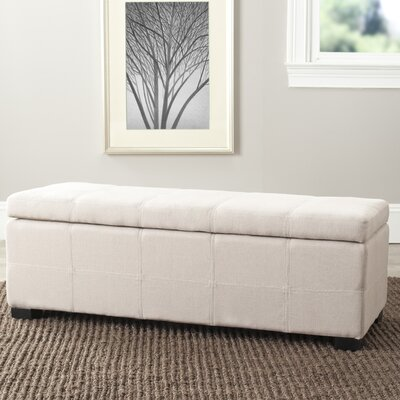 Park Upholstered Storage Bench Color: Taupe