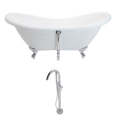 """Aegis 68.75"""" x 28.75"""" Freestanding Soaking Bathtub"""
