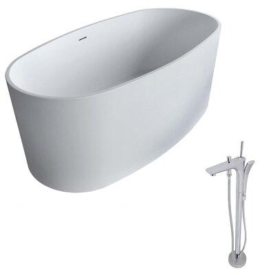 "Roccia 61.4"" x 31.2"" Freestanding Soaking Bathtub"