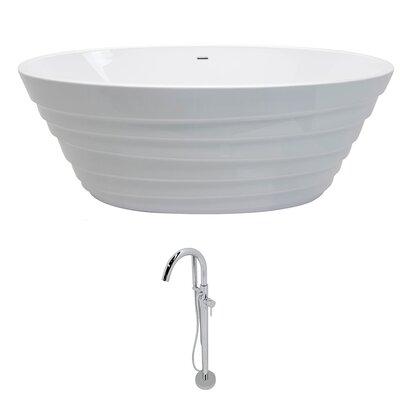 """Nimbus 66.75"""" x 31.1"""" Freestanding Soaking Bathtub"""
