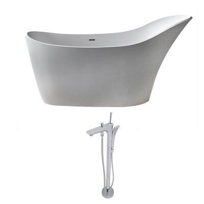 "Alto 67.5"" x 28.75"" Freestanding Soaking Bathtub"