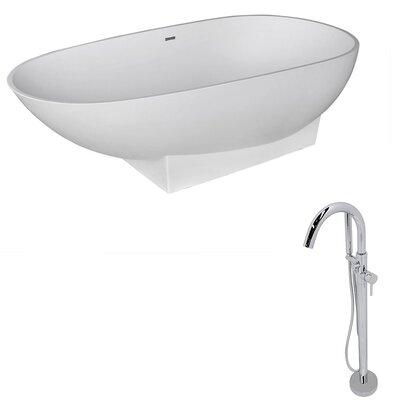 "Volo 70.8"" x 35.5"" Freestanding Soaking Bathtub"