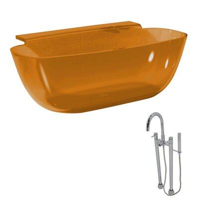 "Vida 62"" x 32"" Freestanding Soaking Bathtub Color: Honey Amber"