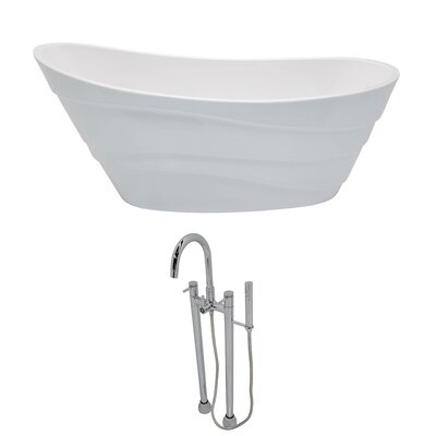 "Stratus 67"" x 29.5"" Freestanding Soaking Bathtub"