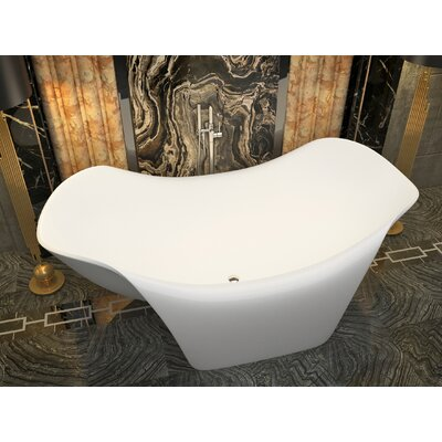 "Cielo 78.7"" x 55"" Freestanding Soaking Bathtub"
