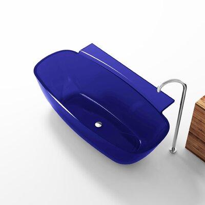 """Vida 62"""" x 32"""" Freestanding Soaking Bathtub Color: Regal Blue"""