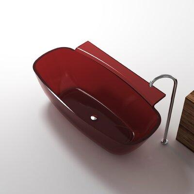 "Vida 62"" x 32"" Freestanding Soaking Bathtub Color: Deep Red"
