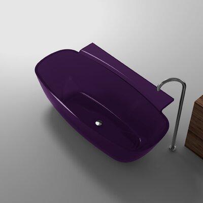 "Vida 62"" x 32"" Freestanding Soaking Bathtub Color: Evening Violet"