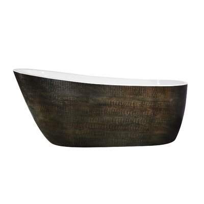 Bouie Series 68.11'' x 27.95'' Freestanding Soaking Bathtub