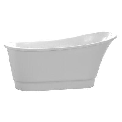Prima Series 67'' x 31'' Freestanding Soaking Bathtub Color: White