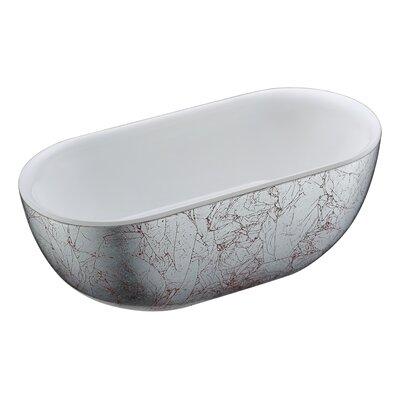 Knight Series 72.05'' x 34.06'' Freestanding Soaking Bathtub
