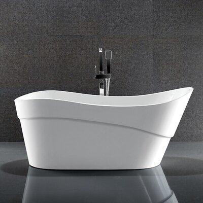 Kahl Series 67'' x 28'' Freestanding Soaking Bathtub