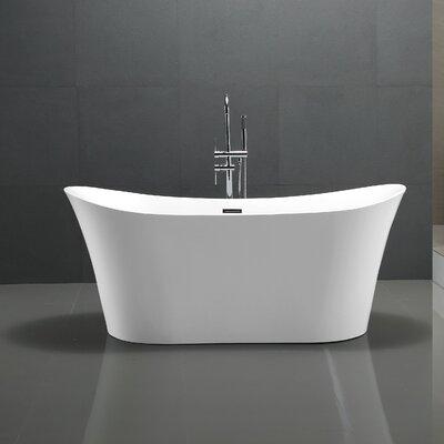 Eft Series 67'' x 29.5'' Freestanding Soaking Bathtub