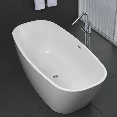 Bridge Series 67'' x 30.7'' Freestanding Soaking Bathtub