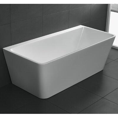 Strait Series 67'' x 30.7'' Freestanding Soaking Bathtub