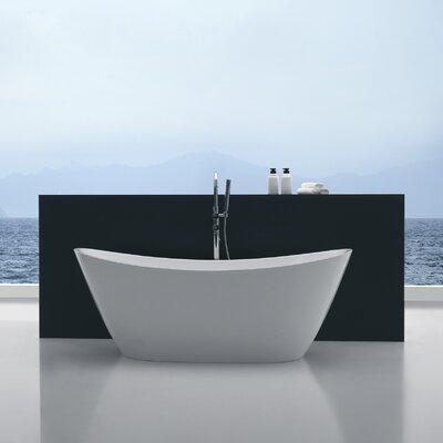 Cross Series 67'' x 26.7'' Freestanding Soaking Bathtub