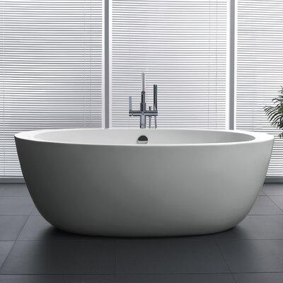 Yield Series 67'' x 35.5'' Freestanding Soaking Bathtub