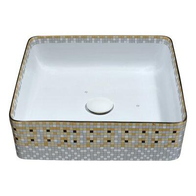 Byzantian Vitreous China Square Vessel Bathroom Sink