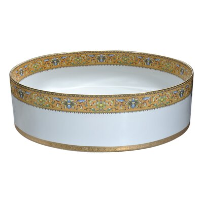 Byzantian Vitreous China Circular Vessel Bathroom Sink