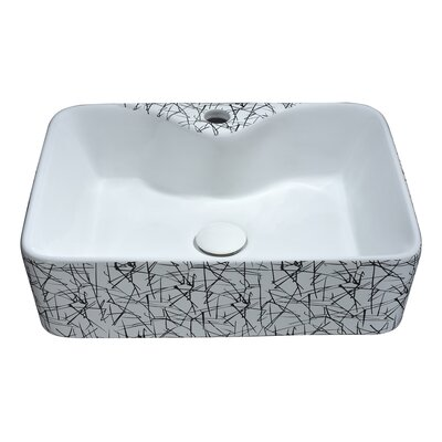 Belgian Vitreous China Square Vessel Bathroom Sink