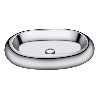 Prussian Vitreous China Oval Vessel Bathroom Sink Sink Finish: Silver