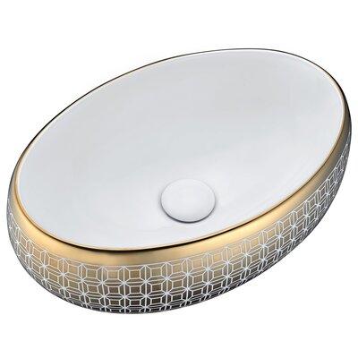 Sona Vitreous China Oval Vessel Bathroom Sink