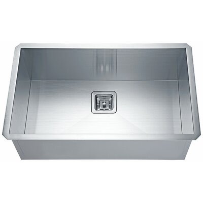 """Vanguard Stainless Steel 31"""" L x 17"""" W Undermount Kitchen Sink with Drain Assembly"""