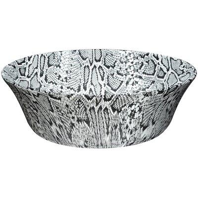 Diamond Back Crown Series Vitreous China Circular Vessel Bathroom Sink